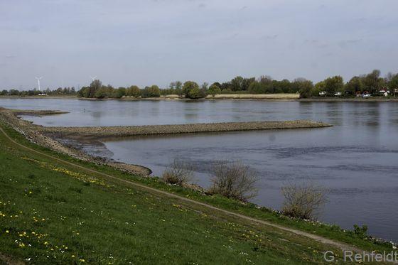 Massive Uferbefestigung an Fließgewässern (OQM), Elbe Over